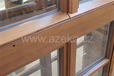 detail dubového špaletového okna AZ EKOTHERM
