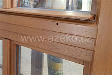 dubové špaletové okno AZ EKOTHERM - detail profilovaného poutce